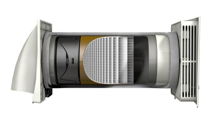 Sienas mini rekuperators Aerauliqa Quantum NEXT 150  60m3/h